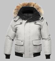 real fur coat for men's down jackets winter outdoor clothing overcoat CARTL Bomber Heather Moss