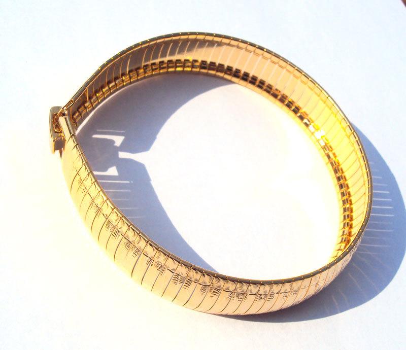 Nouveau noble. occasion, bracelet large 8.8in éclat. d'paillettes 24k jaune, gold filled entrent en fleur de cadeau de bijoux