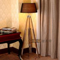 Free shipping Scandinavia style wooden floor lamp boat floor lamp