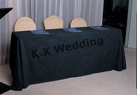 Black Color 147cm*304cm Rectangular Poly Table Cloth For Wedding & Party & Decoration