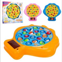 Free Shipping~ 1 piece Fancy sport toy Electric fishing music magnetic disk Marine fishing game 3d lighting