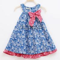 2015 Fsll New Fashion Girl Flower Dress Cotton Girl Dress Korean Styles Girl Princess Dress GD41115-28^^EI