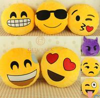 2014 New Arrival Cushion Cartoon Emoji Facial Expression Round Pillow,SI020