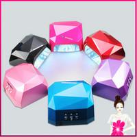 2014 Free Shipping 36W LED Nail Art Lamp Nail Dryer Nail Care 6 Colors Available Machine for UV Gel Nail Polish