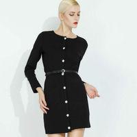 2014 spring Autumn Winter Worker OL dress women slim basic long-sleeve O-neck dress fashion Solid Vintage dress plus size lyq120