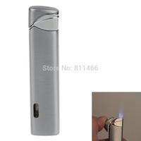 Wholesale Refillable Cigarette Cigar Lighter Super Fire Windproof Butane Flame Lighter -silver-C200073