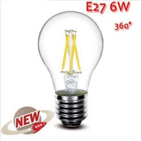 10PCS High Power E27 4W 6W 8W 4LED Chips LED Bulb Light Lamps Glass Globe Lamp Edison Filament bulb WarmWhite 110V-240V