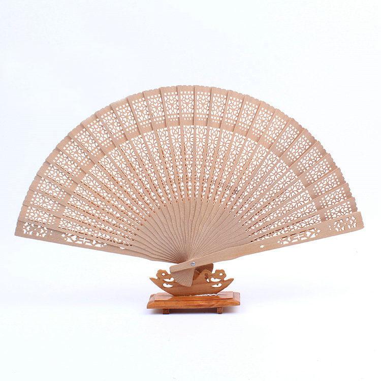 Chinese Japanese Oriental Elegant Sandalwood Folding Hollow Hand Fan K1300(China (Mainland))