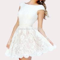 sexy wedding dresses vestido de noiva 2014 short wedding dress fashionable vestido de renda branco curto robe de mariage