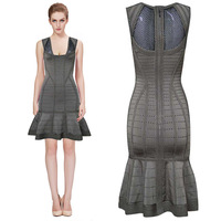 2014 Cute Girl A-line HL kim kardashian dress Sleeveless Bandage dresses evening celebrity short prom dresses Drop Shipping