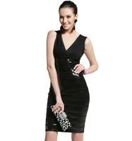2014 Party HL Kim Kardashian Celebrity Beading Black High Quality Vestide de festa bandage dresses drop shipping