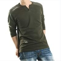 TOP Sales New Arrivel 100% Cotton Brand Men Casual Shirts Fashion Men V-neck Shirt Slim Fit Long Sleeves Shirts Plus Size Tops