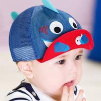 Male female child cap child hat baby sunbonnet sun hat baby hat spring and summer mesh cap