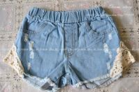 Girls new Summer baby children denim shorts kids casual jeans clothing    ES12ST-83