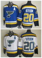 Free Shipping Men's Hockey Jersey St. Louis Blues Jersey #20 Alexander Steen Ice Hockey Jersey Embroidery Logos Jersey
