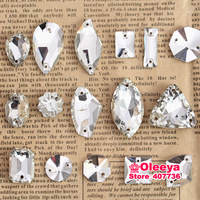 Mix 16 Shapes,160pcs/bag Pointback Flatback Sew on Rhinestones Clear Crystal Sew On Stone For Bags Garments,Casual Dresses O2615