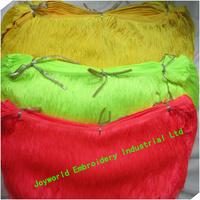 30cm Nylon fringe trimming Tassel bright fringe lace color yellow green neon high quality heavy design