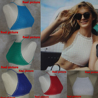 Womens Sexy Top - Handmade Crochet bikini swimwear - Crocheted crop top swimsuit S/M/L