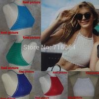 Womens Sexy Top - Handmade Crochet bikini swimwear - Crocheted crop top swimsuit S/M/L