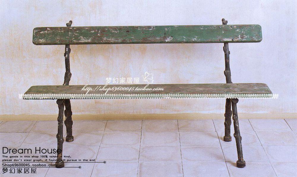 Litas home accessories can DA3201MC new Boboli wood & metal park bench have discount shipping(China (Mainland))