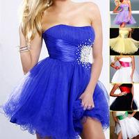 2015 Chic Royal Blue Beaded Belt Short Prom Dresses Hot Sale Sleeveless Lilac Party Dress Christmas Dresses Mini Skirts SD018