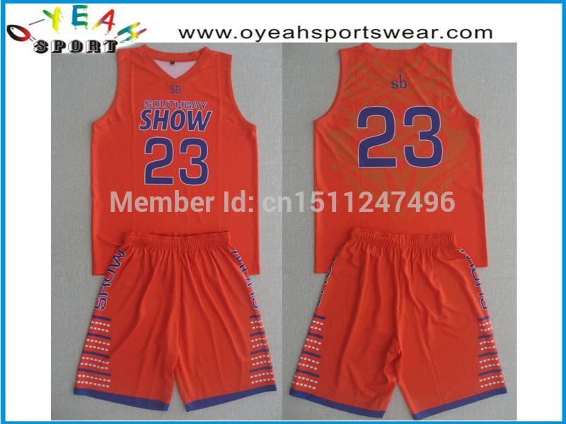 wholesale basketball wear high quality basketball uniforms customized basketball jersey(China (Mainland))