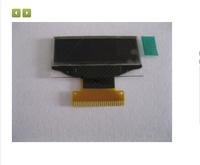 """1.1"""" full view white OLED LCM LCD SPD0301 128*36"""