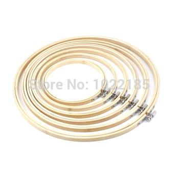 Удобный деревянный вышивка крестом машинной вышивки хооп кольцо бамбук швейные 13 - 30 см