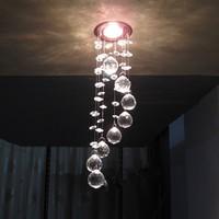 Modern LED k9 crystal chandeliers bedroom living room dining Aisle chandelier 5W AC110-260V
