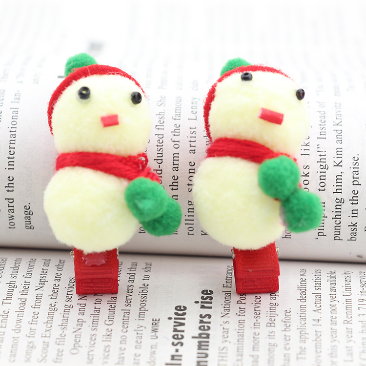 Han Edition Children Hair Accessories Manufacturers Selling Holiday Special Supply Of Snowman Christmas Children Hair Clips(China (Mainland))
