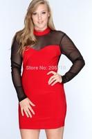 Plus Size Dress For Fat Women Voile Back Lace Dress Female Tropical  Summer Dress 2015 Sex Casual Vestido De Festa Size XL-4XL
