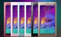 New Galaxy Note4 Flip PU Leather Cover For 9108 v Full Screen Touch Phone Cases South Korea