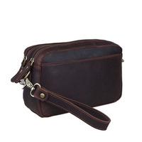 2014 New Vintage Style Genuine Leather Cowhide Clutch Bags For Men Business Bag Shoulder Bag Clutch Handbag Zipper Bag Wallet