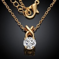 KZCN027-ABC // Wholesale Factory Price fashion Necklace , beautiful hot sale jewelry Chain gold plated Necklace