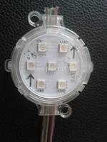20pcs DC24 UCS1903 rgb full colorpixel module with transparent cover;6pcs 5050 led inside;1.44W;50mm diameter