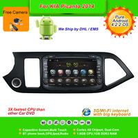 Pure Android 4.2.2  8''Car DVD Player for KIA Picanto 2014,AutoRadio,GPS,Navi,Multimedia,Radio,Ipod,Free Cam,Free shipping