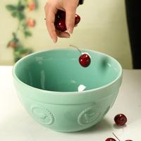 Gift embossed fashion oversized ceramic bowl soup bowl fruit salad bowl tableware