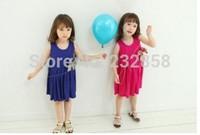 2014 new girls clothing bow bow dress dress Princess pure flower dress