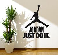 T794  Free shipping MICHAEL JORDAN Decal WALL STICKER Art Home Decor Basketball Sports