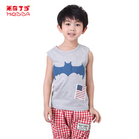 2014 Free Shipping Male's Summer Casual Shirts Sleeveless 1321605 O-neck Cotton Tees Blouses Vest Tops T-shirt for Boy