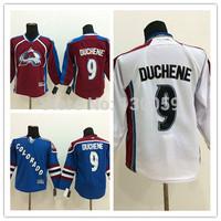 Stitched Colorado Avalanche #9 Matt Duchene men's ice hockey Jersey blue Marroon dark red white wholesale