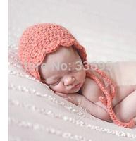 Newborn Girl Pink Bonnet Pink Crochet Hat Newborn Photo Prop