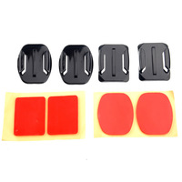 ST-09 2-Flat & 2-Curved Mounts Adhesive Tapes Pads for GoPro Hero 3/2/1-Black+Red