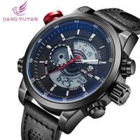 WEIDE brand watch calendar casual sport original Japan quartz movement analog digital men watch leather strap wristwatches