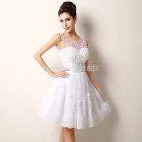 short lace wedding dress 2015 sexy wedding dresses wedding gown fashionable vestido de noiva casamento vestidos real photo