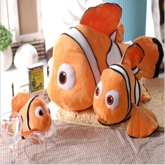 23CM New Arrival Stuffed Dolls Finding Nemo Small Clownfish Nemo Plush Toys Free Shipping Hot Sale High Quality BT107(China (Mainland))