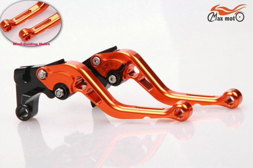 New Style Orange Repsol Short Brake Clutch Levers For HONDA CBR1000RR CBR 1000 RR 2008 2009 2010 2011 2012 2013 2014(China (Mainland))