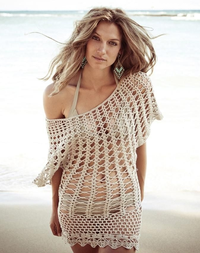 Crochet Cover Up : Beach Bikini Crochet Cover Up , Sexy Mmoda Praia Swimsuit Cover Up ...