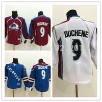 Stitched Colorado Avalanche #9 Matt Duchene women's ice hockey Jersey blue Marroon dark red white wholesale