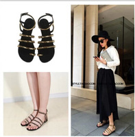 2014 new small quiet with the ppe giuse * * zanotti style bucket Angle and the metal chain sandals